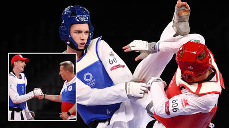 Maksim Khramtcov has struck gold at the Tokyo Olympics © Murad Sezer / Reuters