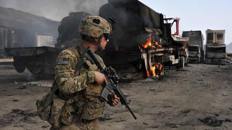 FILE PHOTO. A US soldier in Torkham, Nangarhar province. © AFP / Noorullah Shirzada