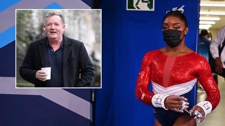 Piers Morgan waded into the situation surrounding Simone Biles. © Reuters