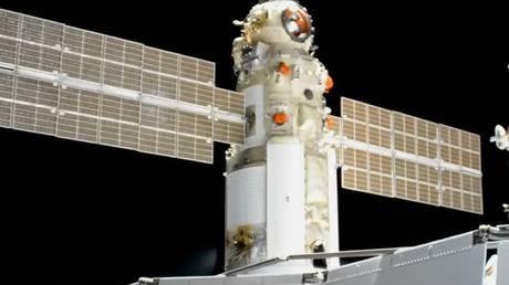Russian 'Nauka' (Science) module docked at the International Space Station, July 29, 2021