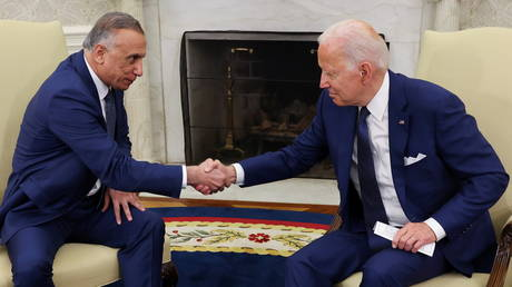 U.S. President Biden holds bilateral meeting with Iraq's Prime Minister Al-Kadhimi at the White House
