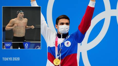 Evgeny Rylov beat Ryan Murphy to Olympic gold in Tokyo. © Reuters