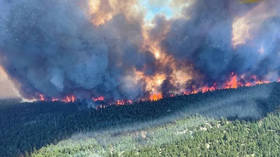 'Whole town is on fire': Canadian village evacuated as flames consume homes and cars after record 49.6C temperature (VIDEOS)