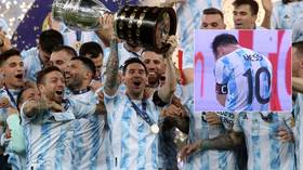 'Brazil, tell me how it feels': Argentina mock rivals after winning Copa America as Messi celebrates with sweary message (VIDEO)