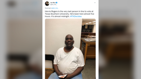 Texas man who famously waited hours to vote in Democratic primary faces up to 40yrs in prison for illegal voting