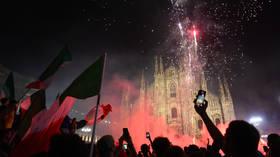 Ecstatic Italian football fans celebrate Euro 2020 victory (VIDEOS)