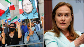 Biden ally denies links to group formerly on US terrorism list after she appears at their event to endorse Iran regime change