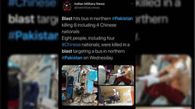 Bus bomb in northern Pakistan kills at least 13, including 9 Chinese engineers (DISTURBING IMAGES)