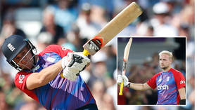 Hit for 6: Cricket clobberer crashes spectacular shot over roof as England maul Pakistan... and American fans are confused (VIDEO)