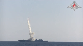 Russian warship reports successful test-fire of hypersonic Zircon missile in tense Arctic waters, hitting target at 350km (VIDEO)