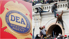 DEA agent arrested for participating in US Capitol riot, allegedly flashing his badge & firearm while off duty