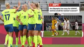 'Are the Olympics too easy for US women's team?' Fans drag up cocky ESPN headline after Americans routed by Sweden in opening game