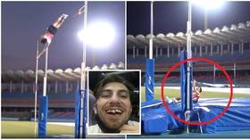 'I hope Tokyo has a good dentist!' UK pole vaulter SMASHES TEETH after bar crashes onto face during Olympic training (VIDEO)