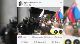 Slovak police unleash tear gas as anti-Covid demonstrators push into parliament in Bratislava