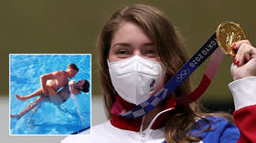'I hadn't fired': Freak judging howler almost lost Russian shooting star crucial points on her way to nation's 1st Olympics gold