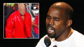 'I can't stop laughing': Kanye West mocked for attending game with tights on head in US stadium 'where rapper is living' (VIDEO)