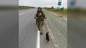Russian shaman who attempted SEVEN THOUSAND KILOMETER walk to 'exorcise' Putin sent to mental health institution for observation