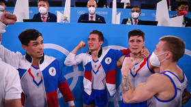 Gold rush: Russian men edge out Japan & China in Olympic thriller to scoop all-round artistic gymnastics title in Tokyo