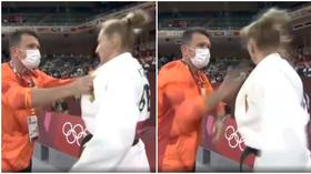 'Better than a coffee': Coach SLAPS German judoka in bizarre viral warm-up routine at Tokyo 2020 Olympics (VIDEO)