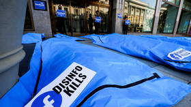 'Cheap stunts?' Pro-censorship activists lay body bags outside Facebook office, claim platform spreading deadly 'disinformation'