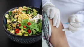 'Craving a vegan sausage roll now!': Anti-vaxxers go plant-based as law firm says it could be illegal to force Covid jab on vegans
