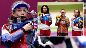 Hitting the spot: Swiss star beats Olympic Games record to hold off Russian rifle rivals as Karimova & Zykova take medals in Tokyo
