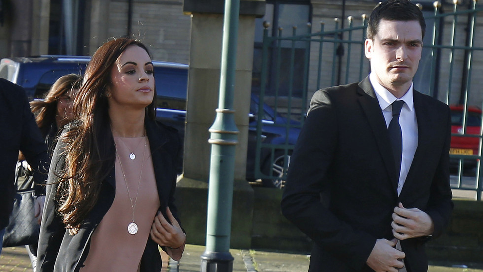 Former England footballer Adam Johnson, who was jailed for sexual activity with a child, pictured on family day out with ex-lover