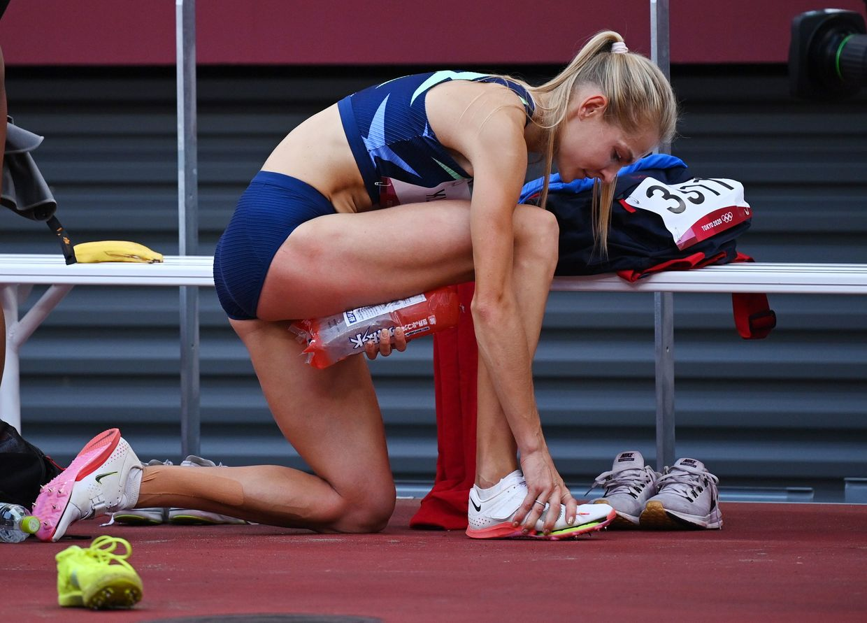 'I was more prepared than ever': Russian long jumper Klishina laments injury which saw her leave Tokyo track in wheelchair