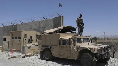 An Afghan soldier at Bagram Air Base, near Kabul, July 2021. © Zakeria Hashimi/AFP