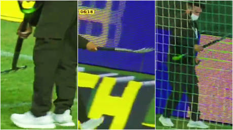 A snake invaded the pitch as Sochi beat Akhmat in the Russian Premier League © Twitter / matchpremier