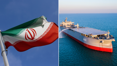 (L) © Reuters / LISI NIESNER; (R) FILE PHOTO. Iran's military exercise in the Gulf of Oman. © Reuters / WANA NEWS AGENCY