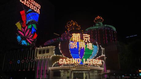 A casino in Macau, China, 2020. © Aleksander Solum/Reuters