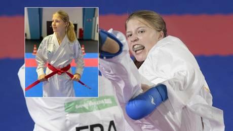 Russian karate athlete Anna Chernysheva will miss the Tokyo Games. © AFP / Instagram @anna_chernysheva_