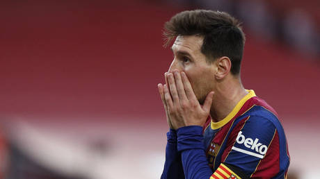 Messi will leave Barcelona, the club announced. © Reuters
