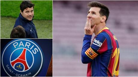 Bonjour? PSG are already said to be in contact about securing Messi's signature. © Reuters