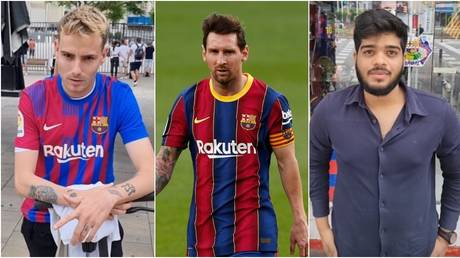 Barcelona fans spoke of their disappointment that Messi was leaving. © RT Sport / Reuters