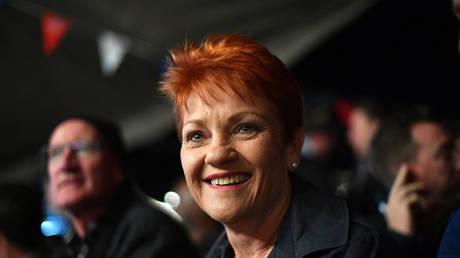 Senator Pauline Hanson in Birdsville, Australia, 2018. © Saeed Khan/AFP