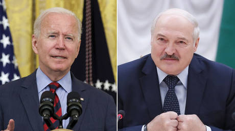 (L) Joe Biden © REUTERS/Jonathan Ernst; (R) Alexander Lukashenko © Sputnik/Dmitry Astakhov