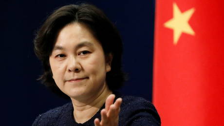 Chinese Foreign Ministry spokeswoman Hua Chunying attends a news conference in Beijing, China (FILE PHOTO) © REUTERS/Carlos Garcia Rawlins