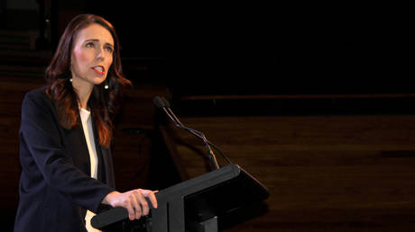 Prime Minister Jacinda Ardern addresses supporters at a Labour Party event in Wellington, New Zealand. © Reuters / Praveen Menon