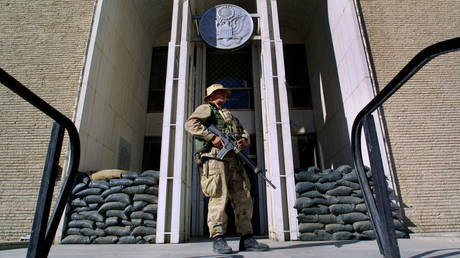 FILE PHOTO. US embassy in Kabul, Afghanistan. © Getty Images / Paula Bronstein