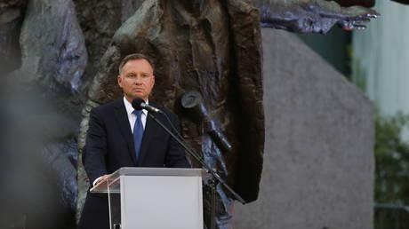 FILE PHOTO: Andrzej Duda attends a ceremony marking the anniversary of the 1944 Warsaw Uprising against Nazi occupants in Warsaw, Poland, July 31, 2021 © Reuters / Maciek Jazwiecki