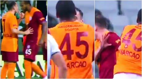 An extraordinary altercation has taken place between two top-flight players in Turkey © Twitter / noxwin12 | © Twitter / EmreBeg26