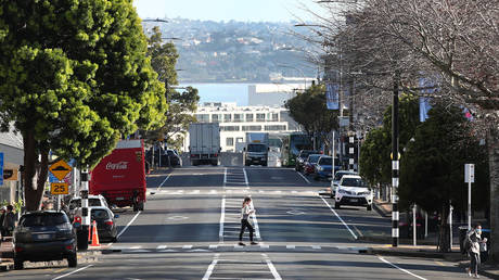 A relatively deserted Parnell Rise as Aucklanders return to level three lockdown on August 13, 2020 in Auckland, New Zealand. © Fiona Goodall/Getty Images