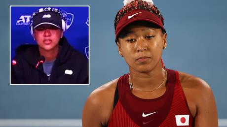 Tennis star Naomi Osaka broke down at a press conference © Mike Segar / Reuters   © Twitter / heyshaymoore