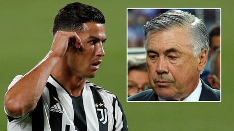 Carlo Ancelotti (right) has said he will not sign Cristiano Ronaldo at Real Madrid © Albert Gea / Reuters | © Vincent West / Reuters