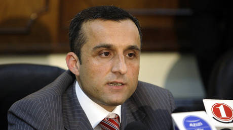 FILE PHOTO: Afghanistan's then chief of intelligence Amrullah Saleh speaks during a news conference in Kabul June 6, 2010. © REUTERS/Omar Sobhani
