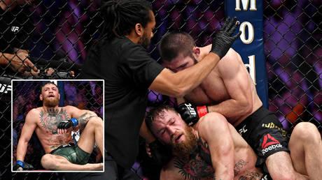 UFC icon Khabib Nurmagomedov beat Conor McGregor via a neck crank © Stephen R Sylvanie / USA Today Sports via Reuters