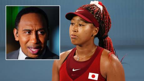 Stephen A Smith (left) has discussed tennis star Naomi Osaka © Mike Segar / Reuters | © Mark J Rebilas / USA Today Sports via Reuters