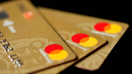 FILE PHOTO: Mastercard Inc. credit cards are displayed in this picture illustration taken December 8, 2017.